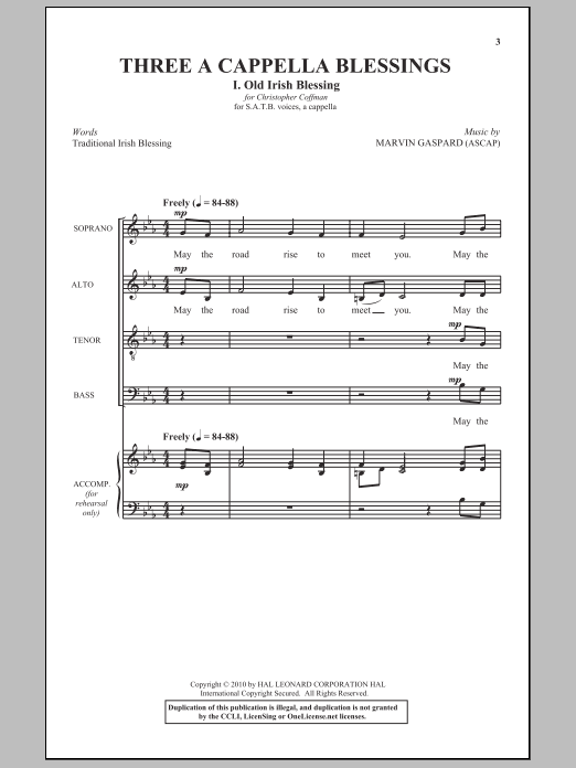 Marvin Gaspard The Lord Bless And Keep You sheet music notes and chords. Download Printable PDF.