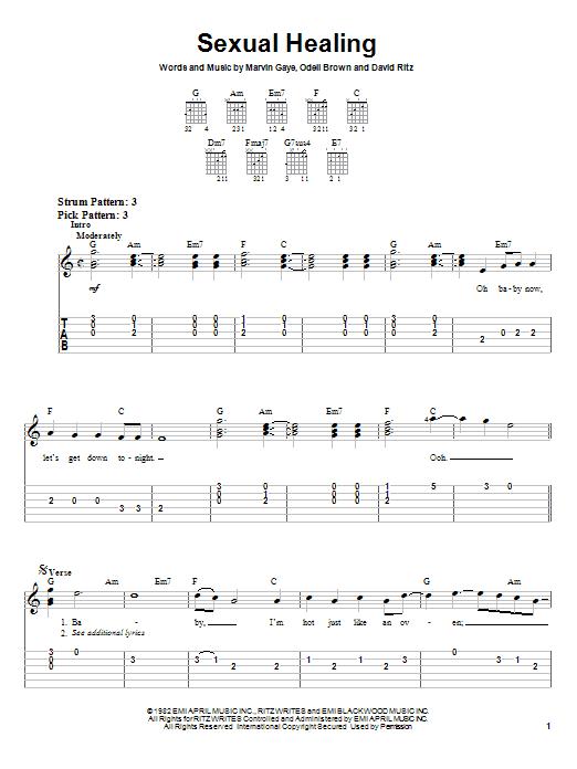 Marvin Gaye Sexual Healing sheet music notes and chords