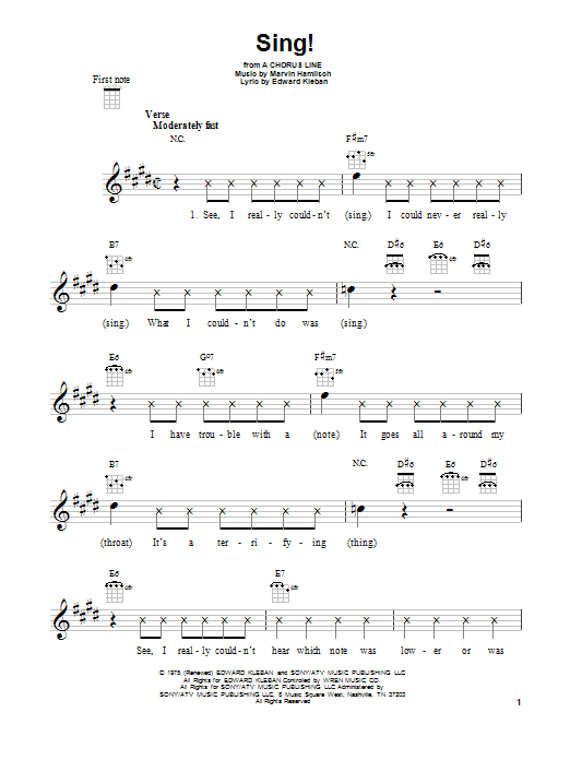 Marvin Hamlisch Sing! sheet music notes and chords. Download Printable PDF.