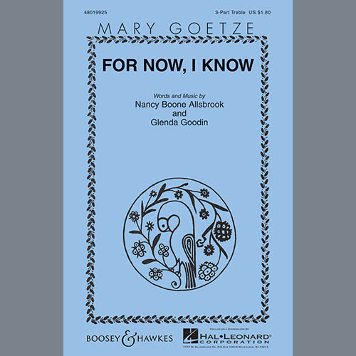 Easily Download Mary Goetze Printable PDF piano music notes, guitar tabs for 3-Part Treble Choir. Transpose or transcribe this score in no time - Learn how to play song progression.