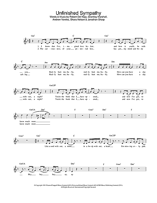 Massive Attack Unfinished Sympathy sheet music notes and chords. Download Printable PDF.