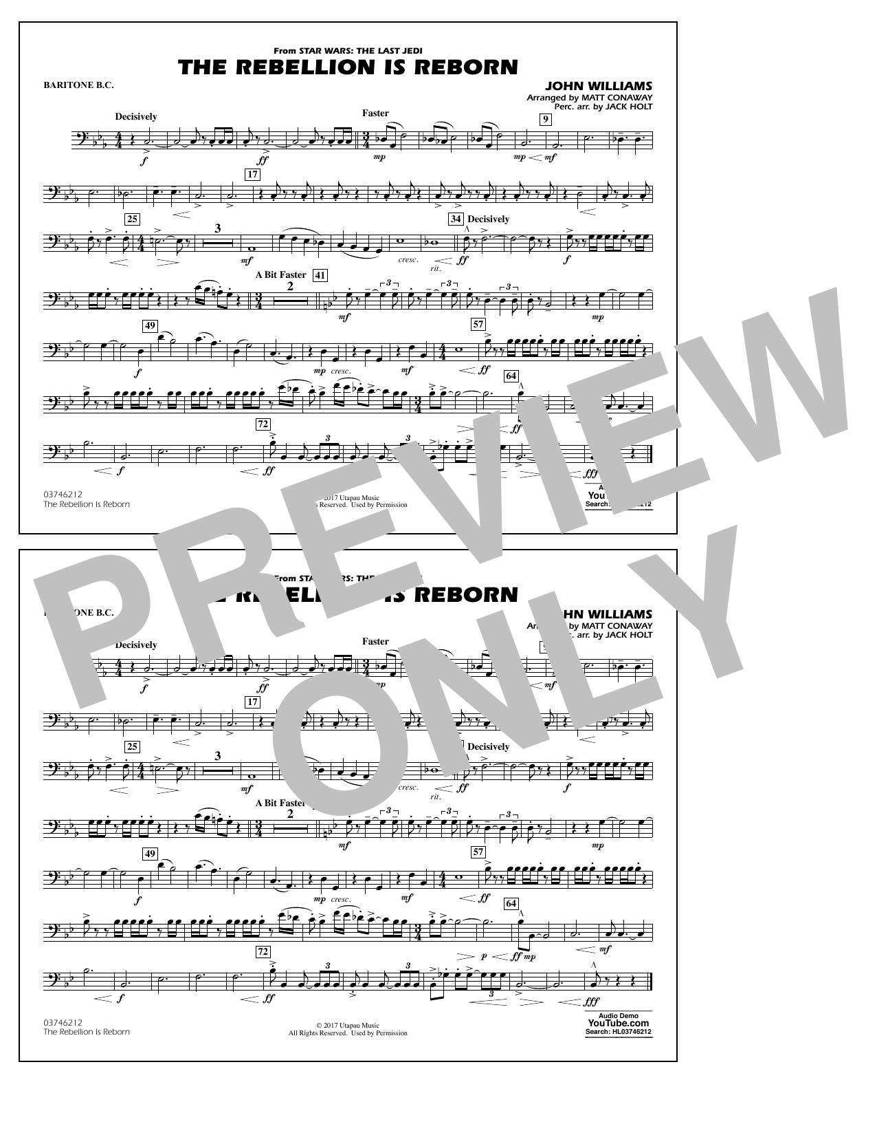 Matt Conaway The Rebellion Is Reborn - Baritone B.C. sheet music notes and chords