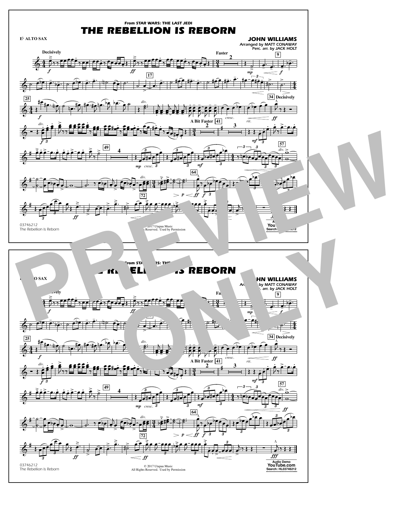 Matt Conaway The Rebellion Is Reborn - Eb Alto Sax sheet music notes and chords. Download Printable PDF.