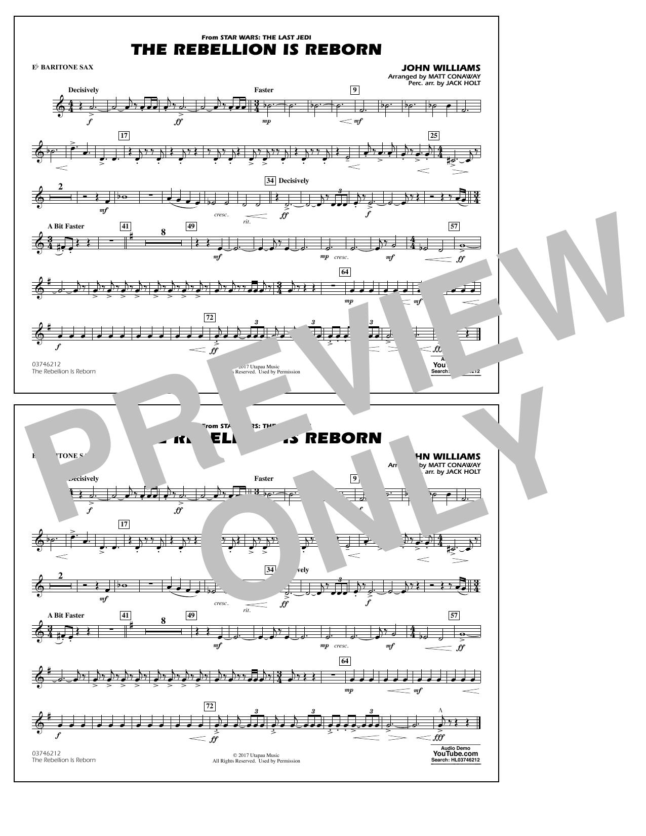 Matt Conaway The Rebellion Is Reborn - Eb Baritone Sax sheet music notes and chords