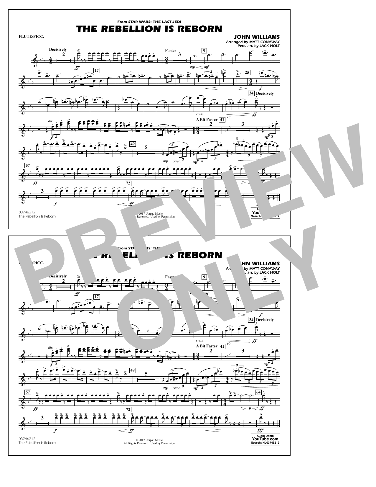 Matt Conaway The Rebellion Is Reborn - Flute/Piccolo sheet music notes and chords