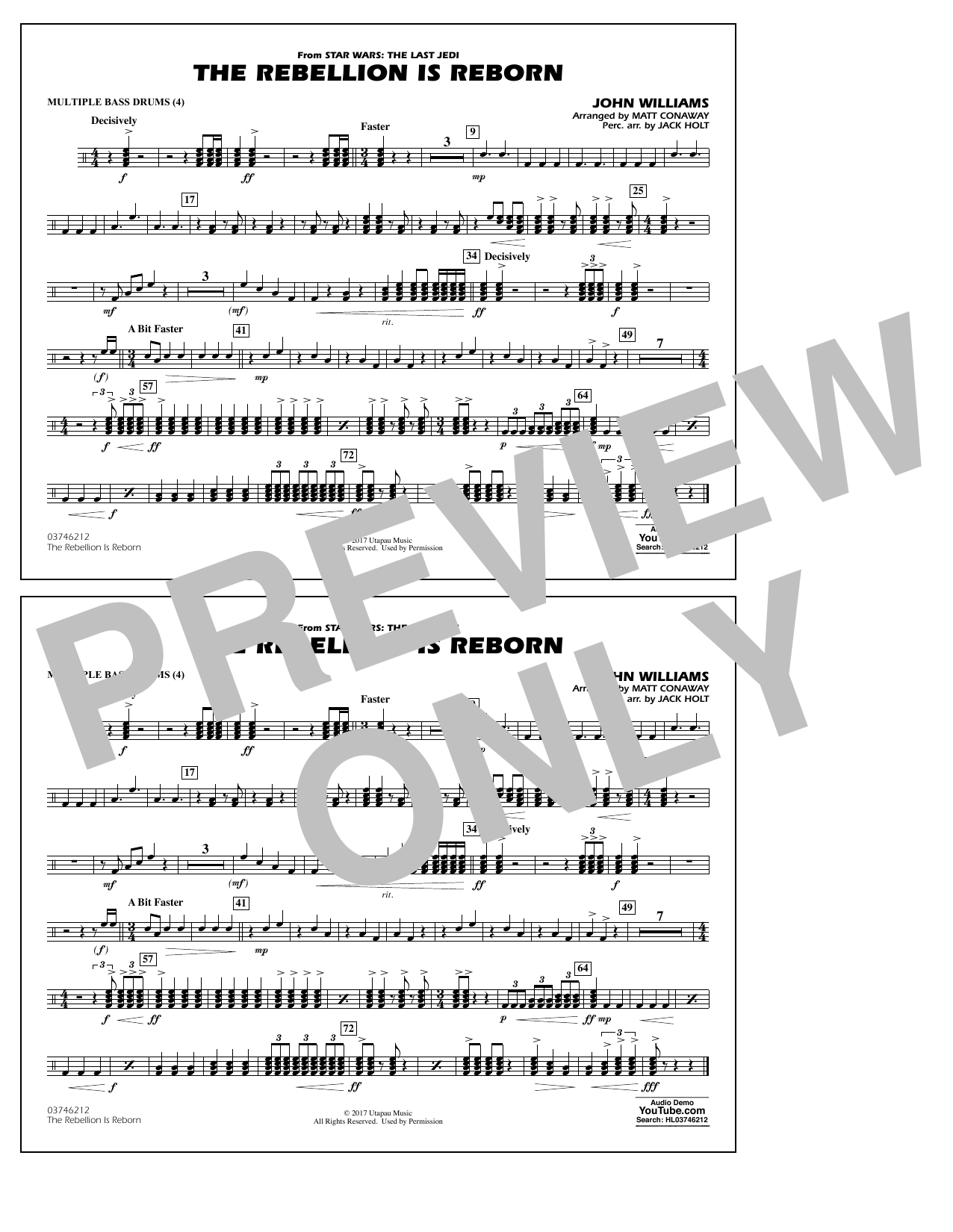 Matt Conaway The Rebellion Is Reborn - Multiple Bass Drums sheet music notes and chords