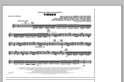 Matt Conaway Timber - Bells/Xylophone sheet music notes and chords
