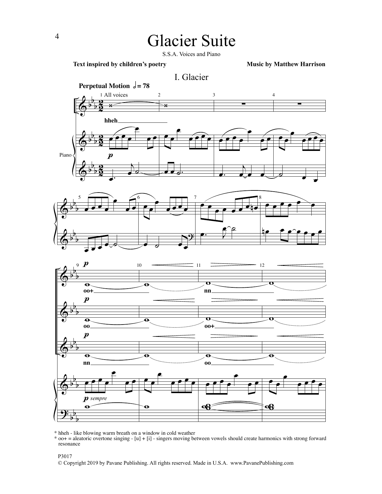 Matthew Harrison Glacier Suite sheet music notes and chords. Download Printable PDF.