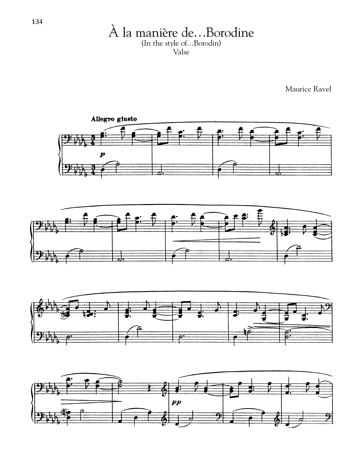 Maurice Ravel A La Maniere De Borodine (Valse) sheet music notes and chords. Download Printable PDF.