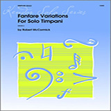 Download or print Mccormick Fanfare Variations For Solo Timpani Sheet Music Printable PDF 2-page score for Classical / arranged Percussion Solo SKU: 124795.