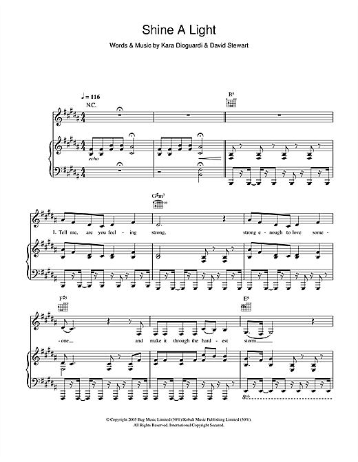 McFly Shine A Light (feat. Taio Cruz) sheet music notes and chords. Download Printable PDF.