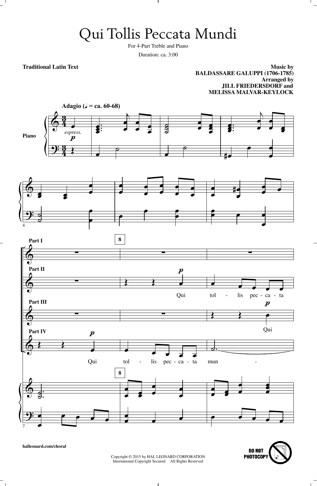 Melissa Malvar-Keylock Qui Tollis Peccata Mundi sheet music notes and chords