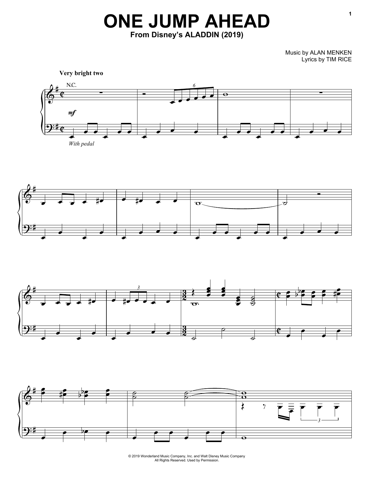 Mena Massoud One Jump Ahead (from Disney's Aladdin) sheet music notes and chords. Download Printable PDF.