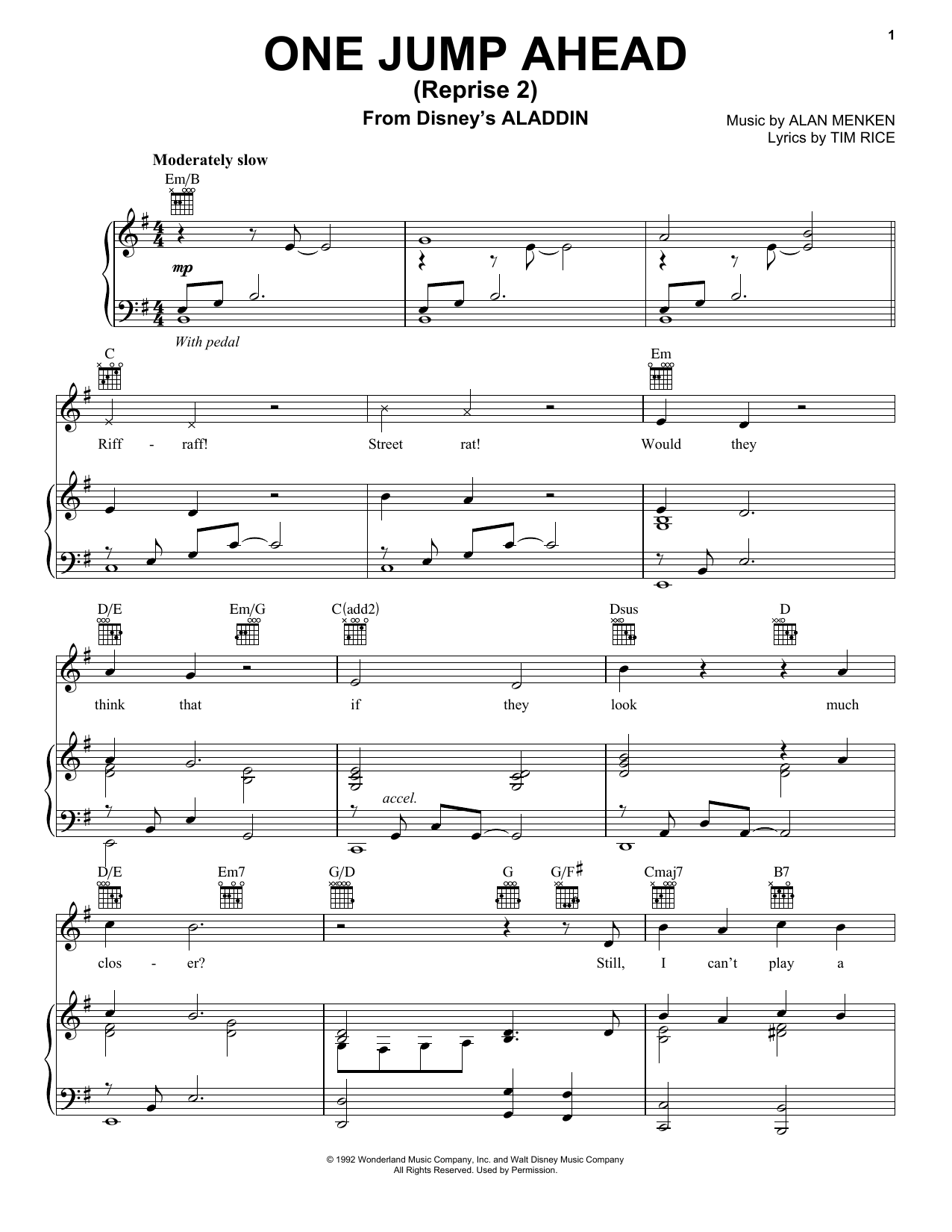 Mena Massoud One Jump Ahead (Reprise 2) (from Disney's Aladdin) sheet music notes and chords. Download Printable PDF.