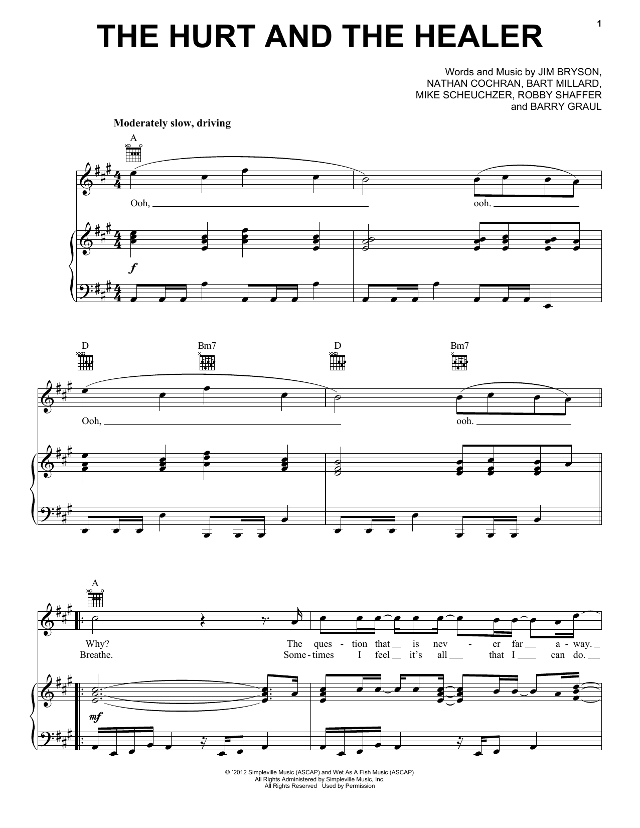 MercyMe The Hurt And The Healer sheet music notes and chords