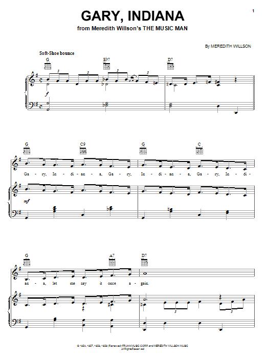 Meredith Willson Gary, Indiana sheet music notes and chords. Download Printable PDF.