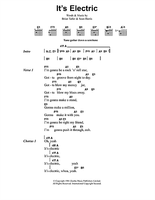 Metallica It's Electric sheet music notes and chords