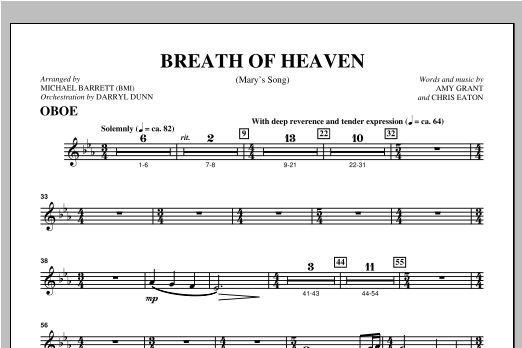 Michael Barrett Breath Of Heaven (from