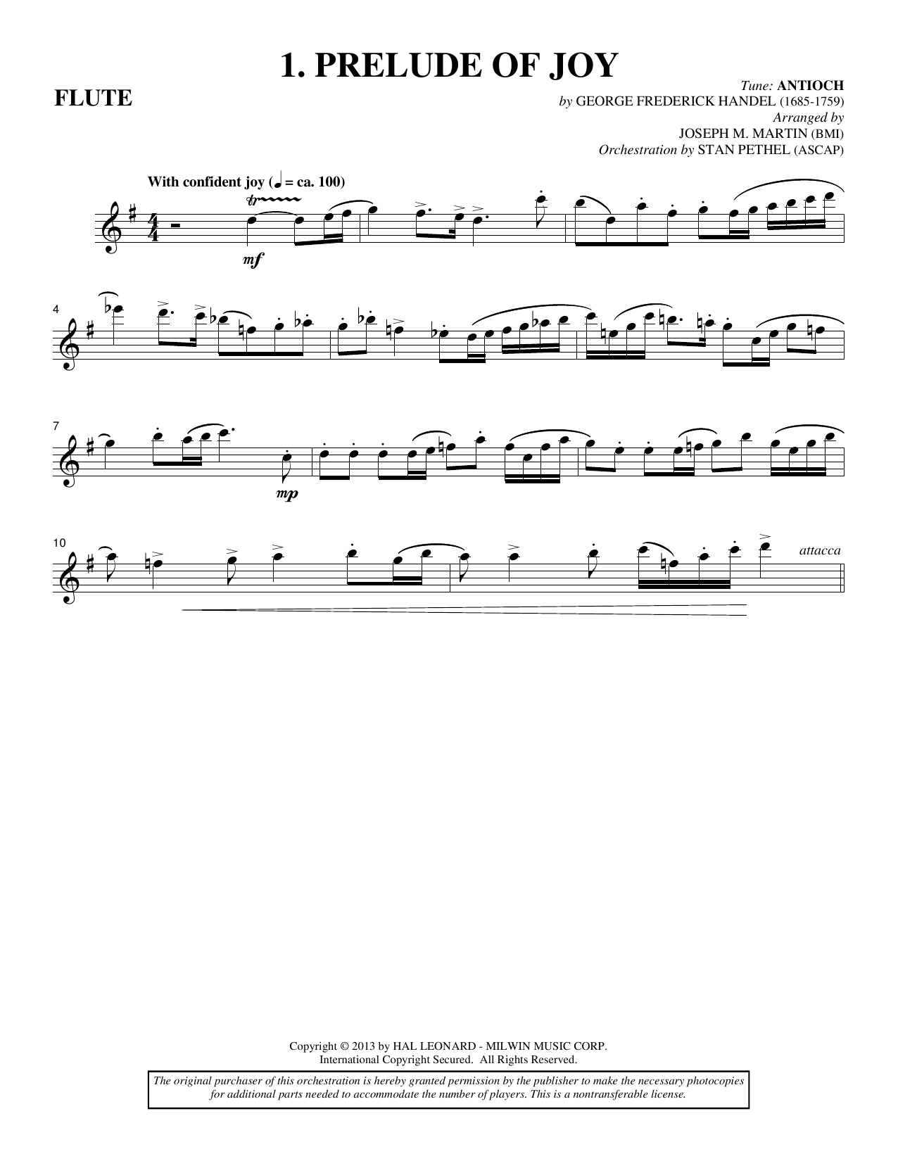 Michael Barrett & Joseph Martin Sing A Song Of Christmas - Flute sheet music notes and chords
