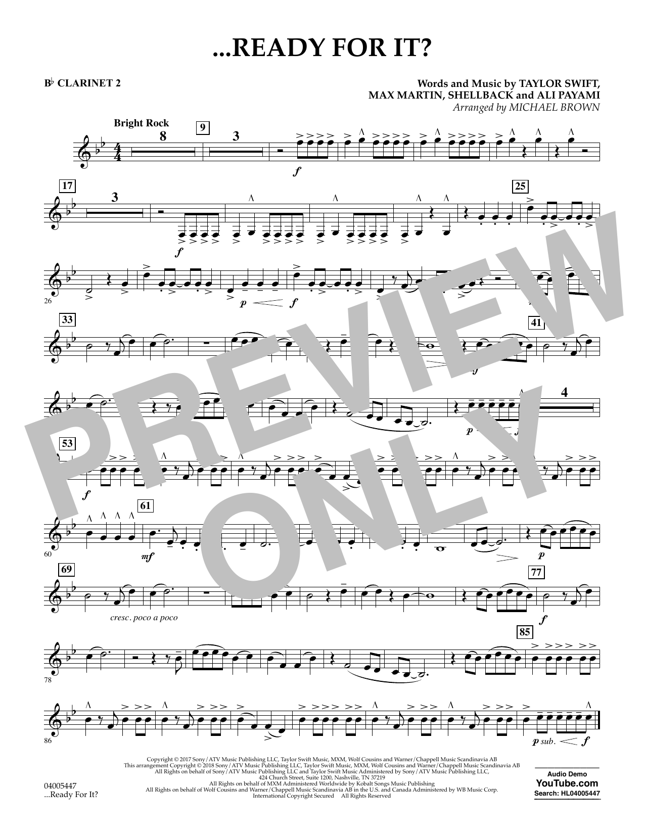 Michael Brown ...Ready for It? - Bb Clarinet 2 sheet music notes and chords. Download Printable PDF.