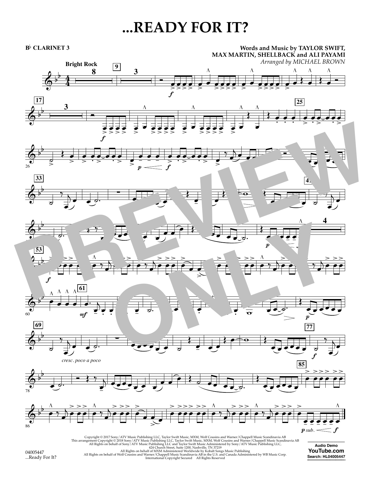 Michael Brown ...Ready for It? - Bb Clarinet 3 sheet music notes and chords. Download Printable PDF.