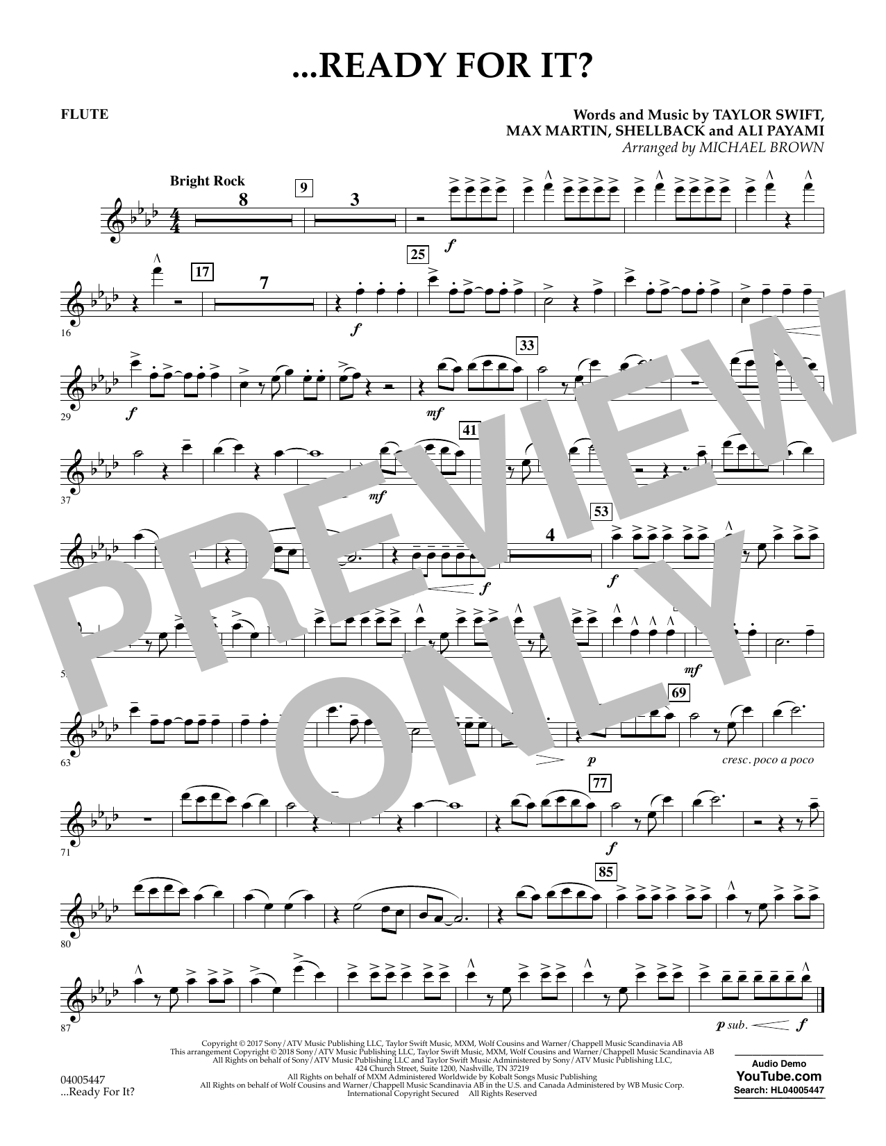 Michael Brown ...Ready for It? - Flute sheet music notes and chords. Download Printable PDF.