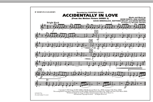 Michael Brown Accidentally In Love - Bb Horn/Flugelhorn sheet music notes and chords