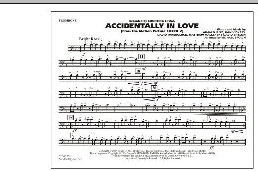 Michael Brown Accidentally In Love - Trombone sheet music notes and chords. Download Printable PDF.