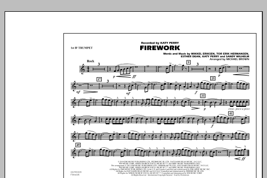 Michael Brown Firework - 1st Bb Trumpet sheet music notes and chords