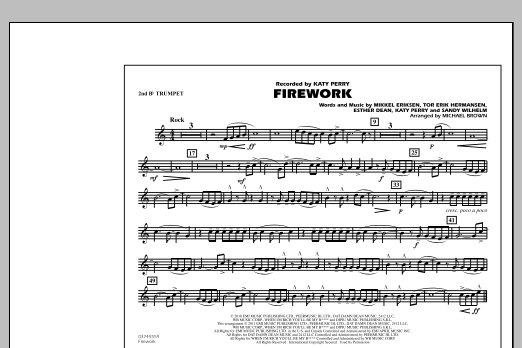 Michael Brown Firework - 2nd Bb Trumpet sheet music notes and chords