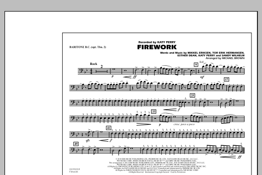 Michael Brown Firework - Baritone B.C. (Opt. Tbn. 2) sheet music notes and chords