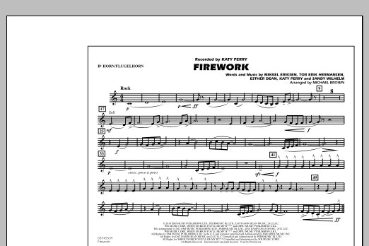 Michael Brown Firework - Bb Horn/Flugelhorn sheet music notes and chords. Download Printable PDF.