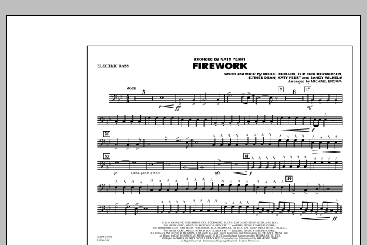 Michael Brown Firework - Electric Bass sheet music notes and chords