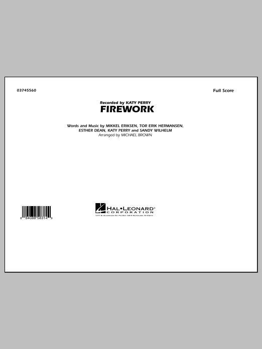 Michael Brown Firework - Full Score sheet music notes and chords
