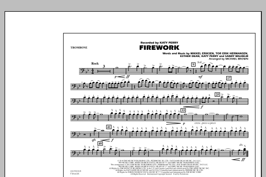 Michael Brown Firework - Trombone sheet music notes and chords