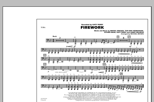 Michael Brown Firework - Tuba sheet music notes and chords