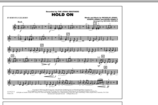 Michael Brown Hold On - Bb Horn/Flugelhorn sheet music notes and chords. Download Printable PDF.