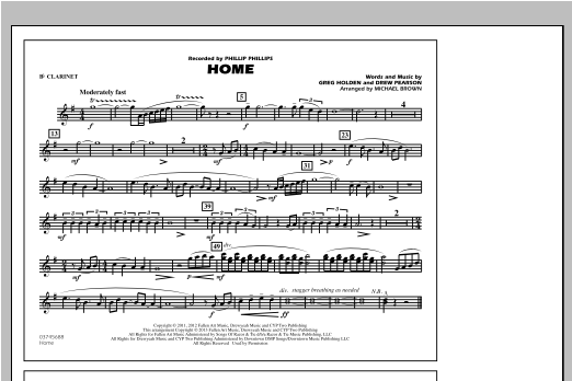 Michael Brown Home - Bb Clarinet sheet music notes and chords. Download Printable PDF.
