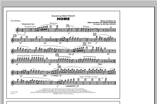 Michael Brown Home - Flute/Piccolo sheet music notes and chords. Download Printable PDF.