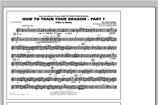 Michael Brown How To Train Your Dragon Part 1 - Eb Alto Sax sheet music notes and chords. Download Printable PDF.
