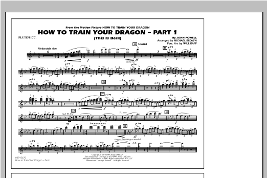 Michael Brown How To Train Your Dragon Part 1 - Flute/Piccolo sheet music notes and chords. Download Printable PDF.