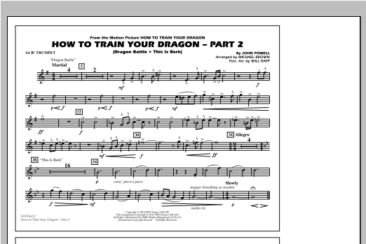 Michael Brown How To Train Your Dragon Part 2 - 1st Bb Trumpet sheet music notes and chords. Download Printable PDF.
