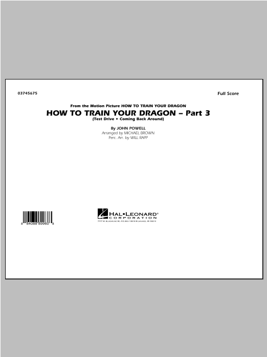 Michael Brown How To Train Your Dragon Part 3 - Conductor Score (Full Score) sheet music notes and chords. Download Printable PDF.