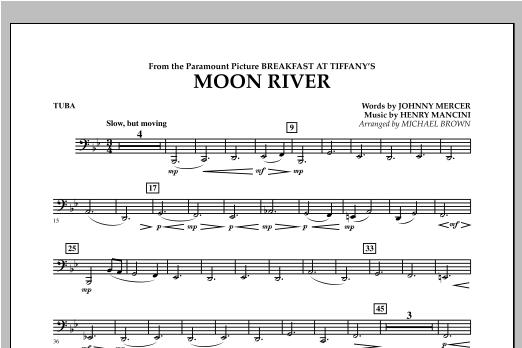 Michael Brown Moon River - Tuba sheet music notes and chords. Download Printable PDF.