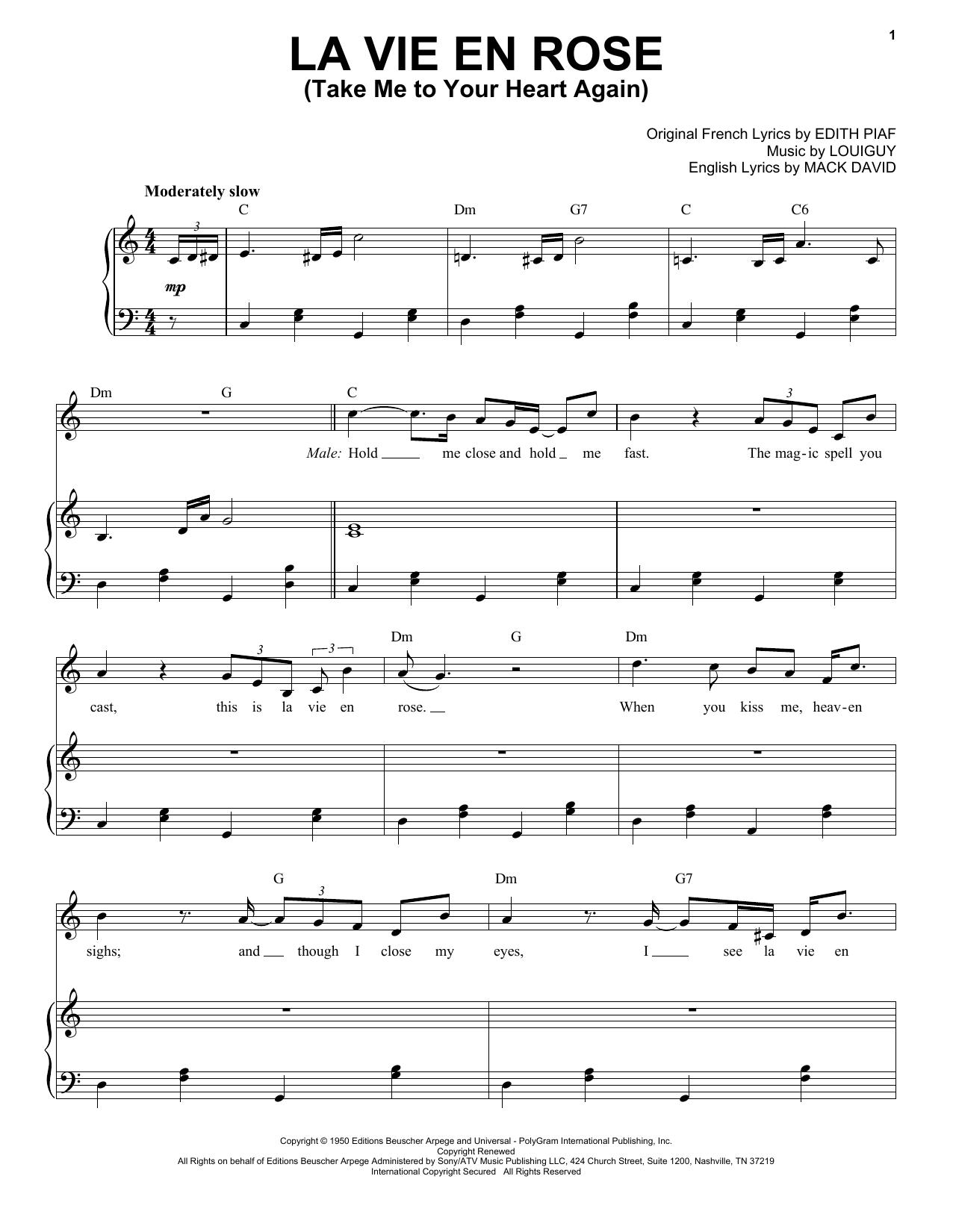 Michael Bublé La vie en rose (feat. Cécile McLorin Salvant) sheet music notes and chords. Download Printable PDF.