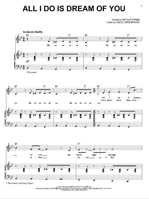 Michael Buble All I Do Is Dream Of You sheet music notes and chords. Download Printable PDF.