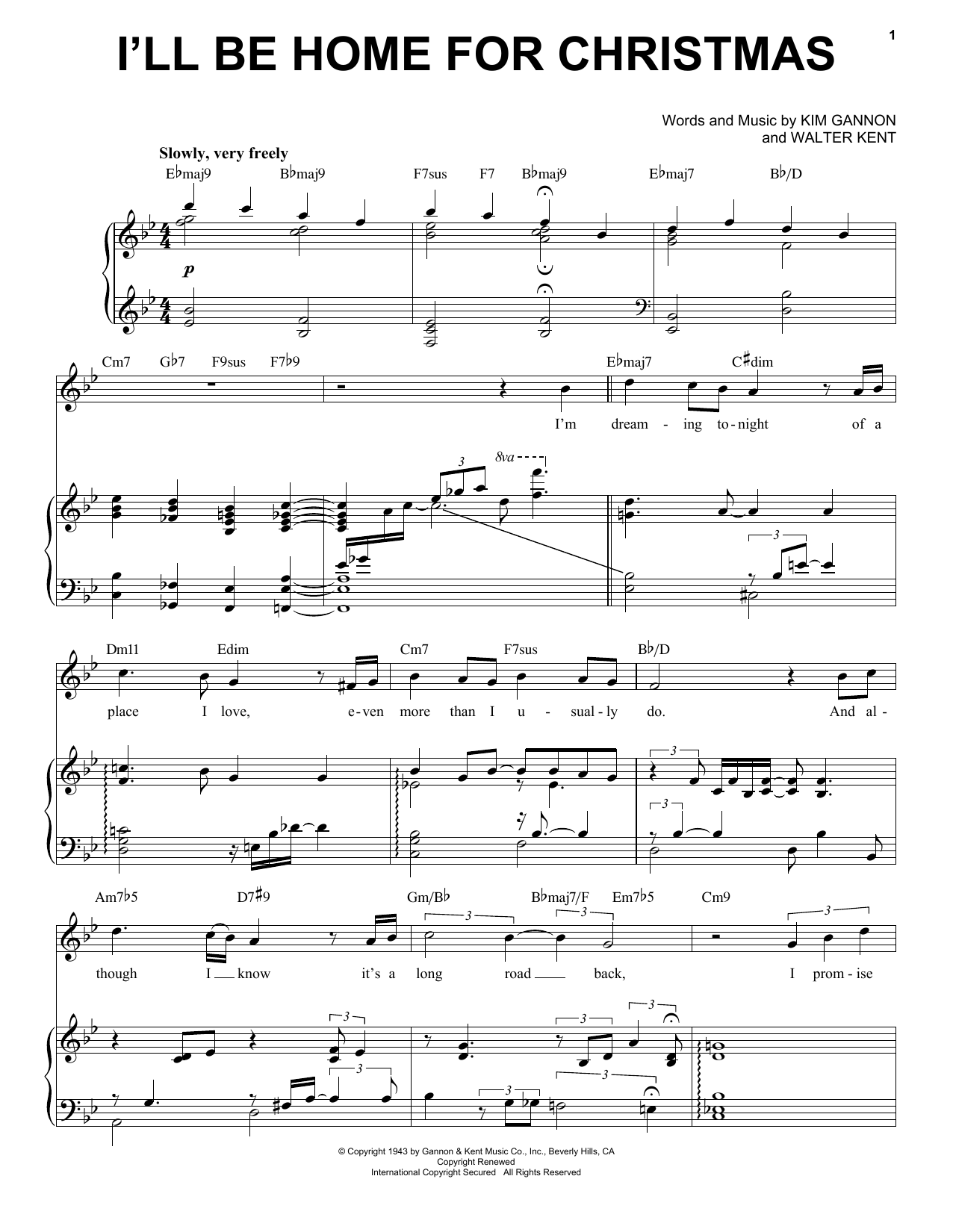 Michael Buble I Ll Be Home For Christmas Sheet Music Pdf Notes Chords Christmas Score Piano Vocal Download Printable Sku 71917