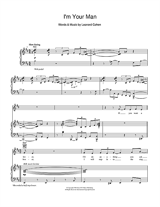 Michael Buble I'm Your Man sheet music notes and chords. Download Printable PDF.