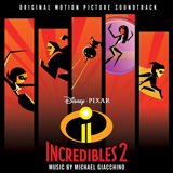 Download or print Michael Giacchino Pow! Pow! Pow! - Mr. Incredibles Theme (from Incredibles 2) Sheet Music Printable PDF 2-page score for Children / arranged Big Note Piano SKU: 454713.