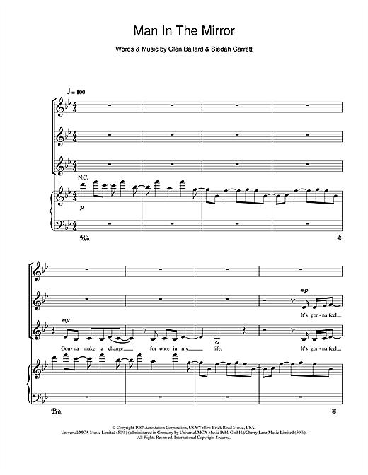 Michael Jackson Man In The Mirror (arr. Jonathan Wikeley) sheet music notes and chords. Download Printable PDF.
